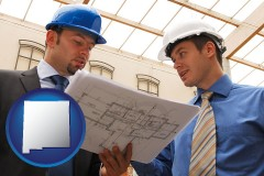new-mexico two architects reviewing blueprints